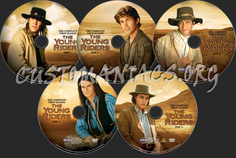 The Young Riders Season 1 dvd label
