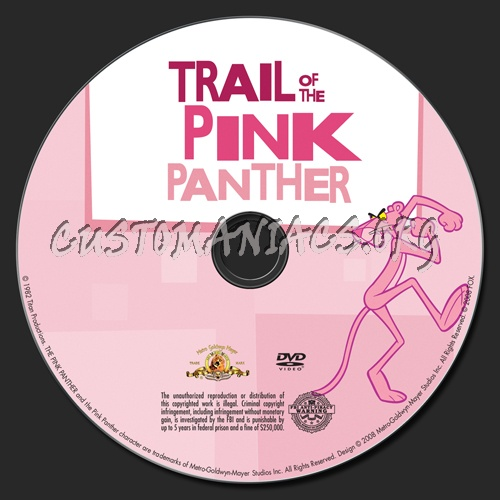 Trail of the Pink Panther dvd label