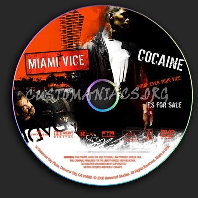 Miami Vice dvd label