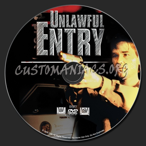 Unlawful Entry dvd label - DVD Covers & Labels by ...
