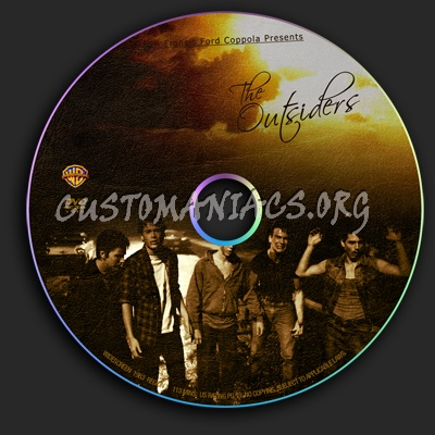 The Outsiders dvd label