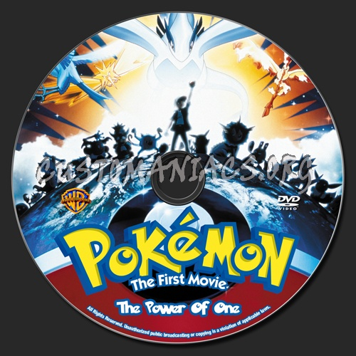 Pokemon - The Power Of One dvd label