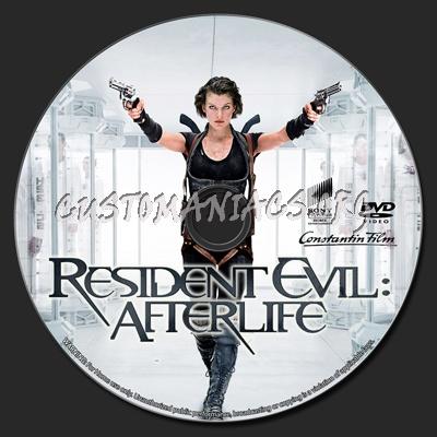 Resident Evil Afterlife dvd label