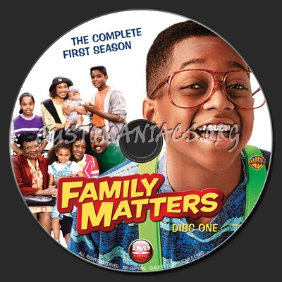 Family Matters : The Complete First Season dvd label