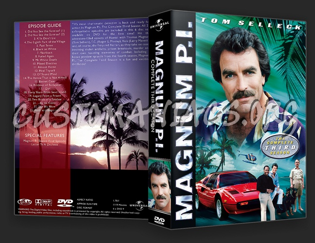 magnum p i complete season 1 8 dvd cover dvd covers labels by customaniacs id 113693 free. Black Bedroom Furniture Sets. Home Design Ideas