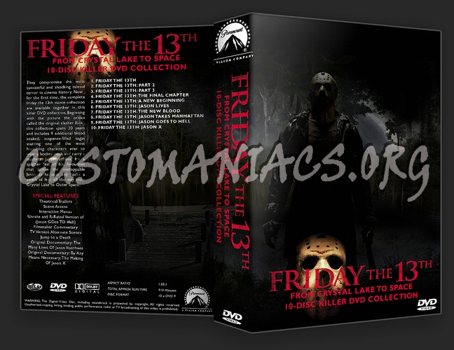 Friday The 13th 1-10 Collection dvd cover