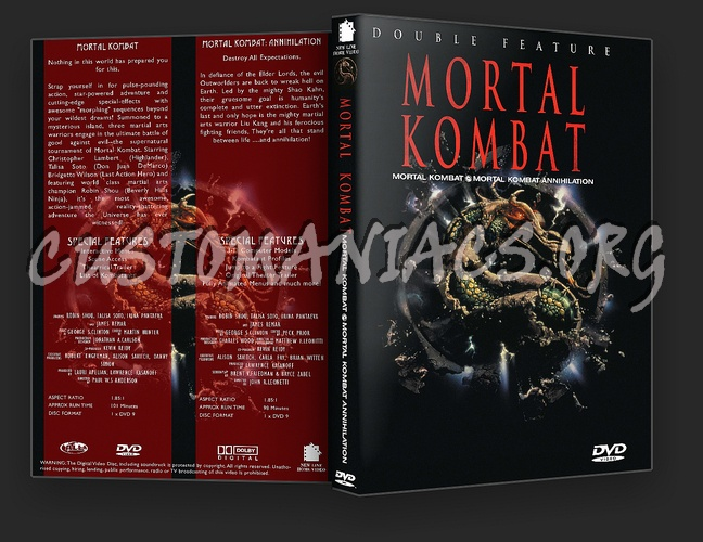 Mortal Kombat Double Feature dvd cover