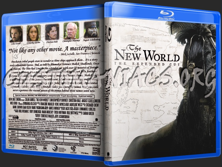 The New World blu-ray cover