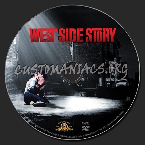 West Side Story dvd label