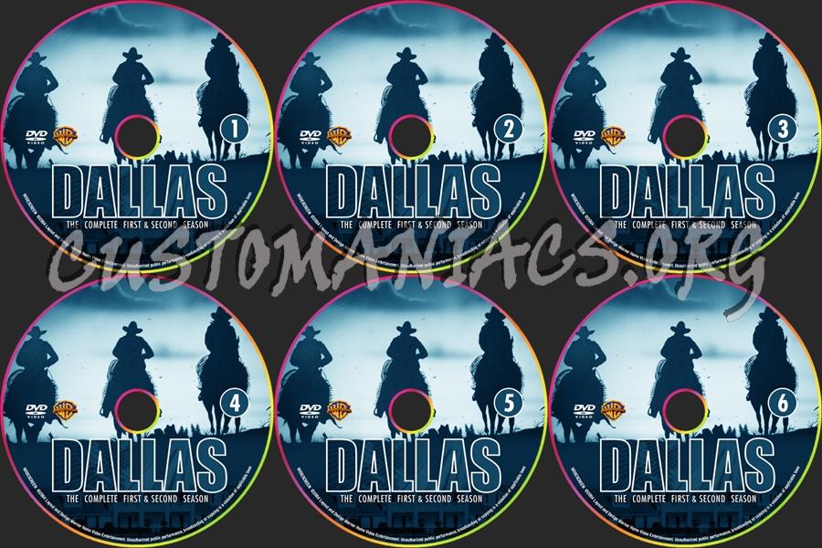 Dallas - Season 1 & 2 dvd label