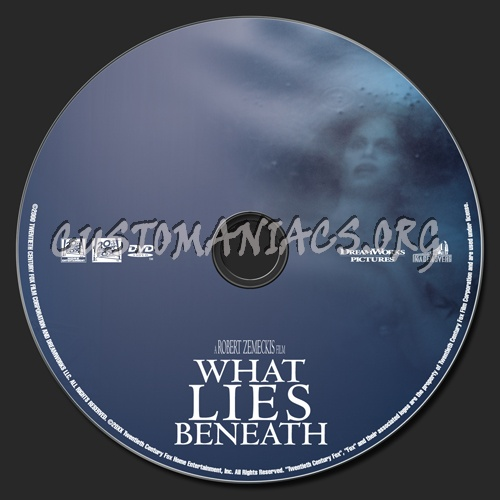 What Lies Beneath dvd label