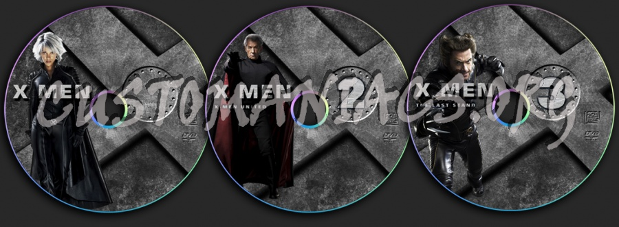 X-Men dvd label