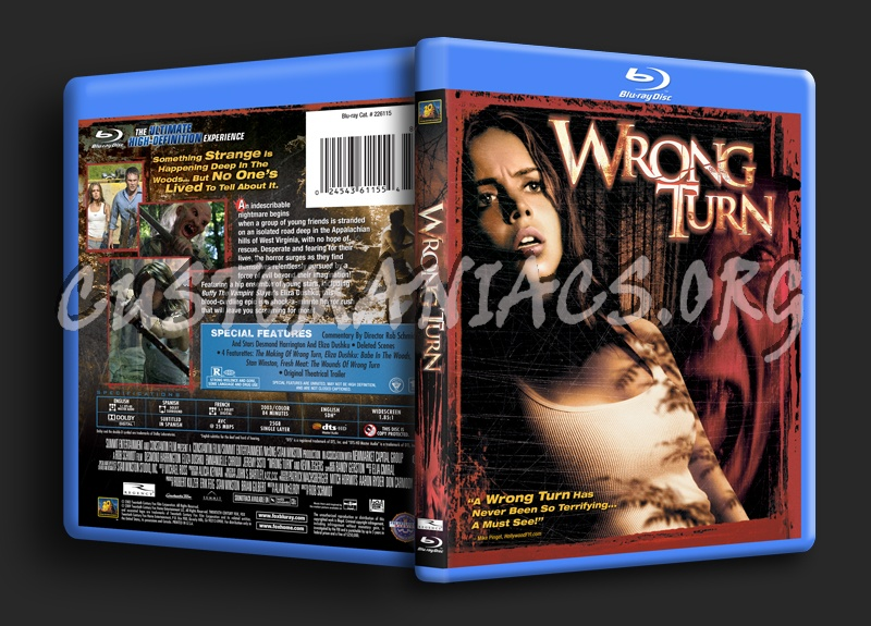 Wrong Turn blu-ray cover