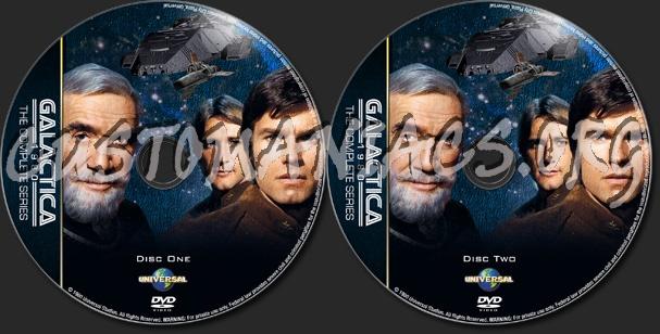 Battlestar Galactica - Galactica 1980 - TV Collection dvd label