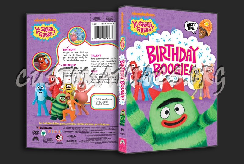 Yo Gabba Gabba!  Birthday Boogie! dvd cover