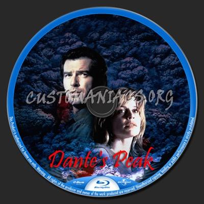 Dante\'s Peak blu-ray label