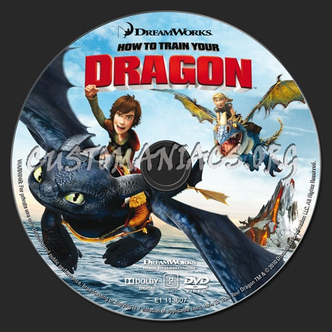 How to Train Your Dragon dvd label