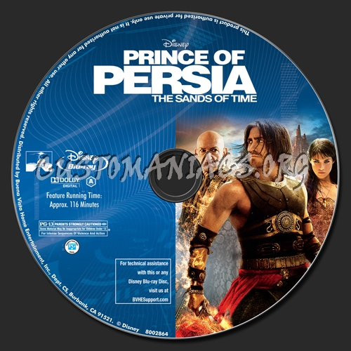 prince of persia  the sands of time blu-ray label