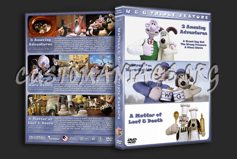 Wallace & Gromit Triple Feature dvd cover