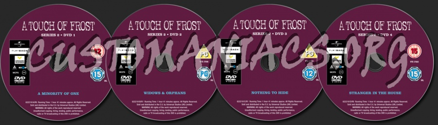 A Touch of Frost Series 1 dvd label