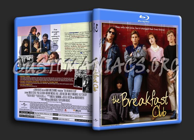 The Breakfast Club blu-ray cover