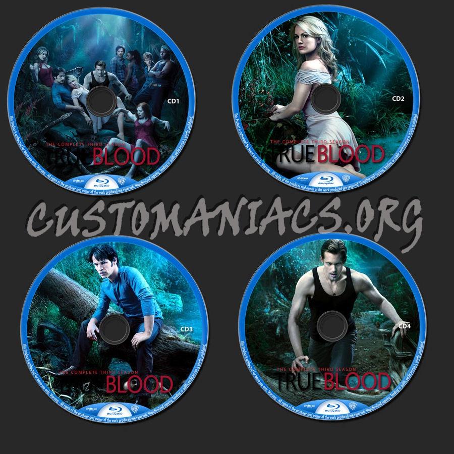 True Blood Season 3 blu-ray label