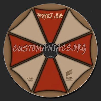 Resident Evil Extinction dvd label