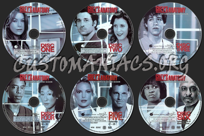 Grey\'s Anatomy Season 2 dvd label - DVD Covers & Labels by ...