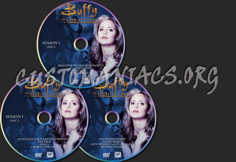 Buffy The Vampire Slayer dvd label