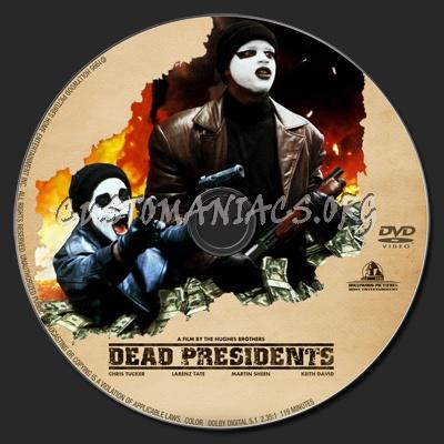 Dead Presidents dvd label