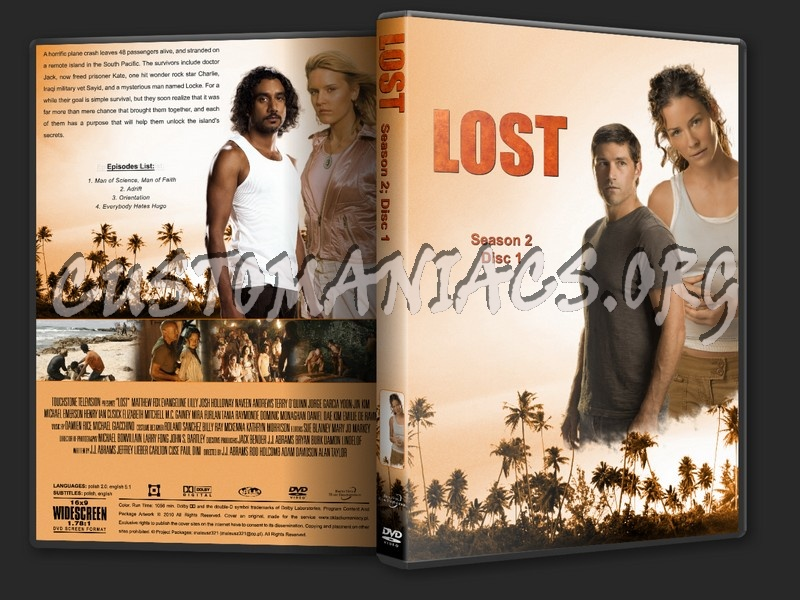 Lost Season 2 dvd cover - DVD Covers & Labels by Customaniacs, id