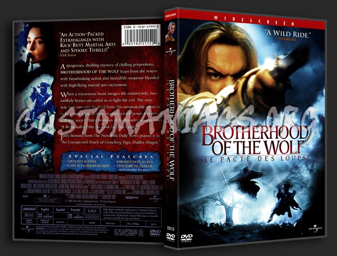 Brotherhood of the Wolf dvd cover