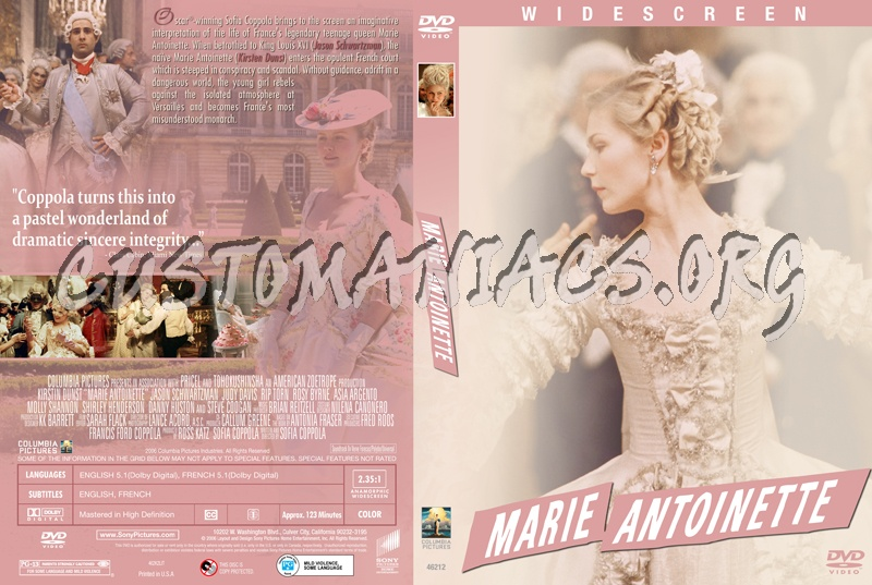 Marie Antionette dvd cover