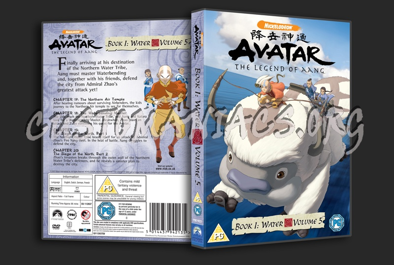 Avatar Book 1 Volume 5 dvd cover - DVD Covers & Labels by