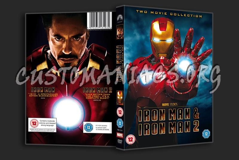 Iron Man & Iron Man 2 dvd cover