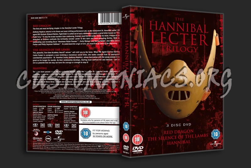 The Hannibal Lecter Trilogy: Red Dragon / The Silence of the Lambs / Hannibal dvd cover
