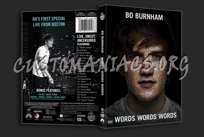 Bo Burnham: Words Words Words dvd cover