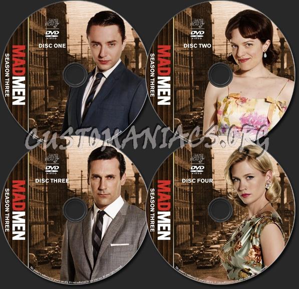 Mad Men - TV Collection - Season 3 dvd label