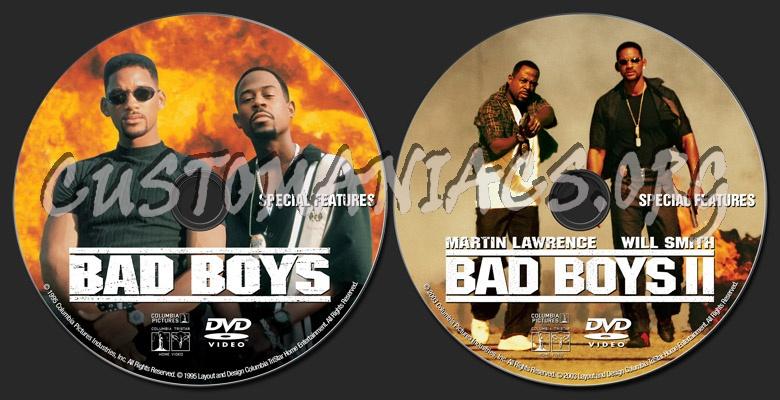 Bad Boys / Bad Boys II dvd label