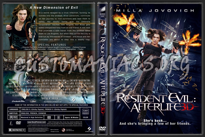 Resident Evil: Afterlife dvd cover