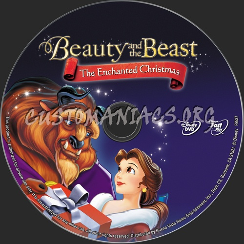 Beauty and the Beast dvd label