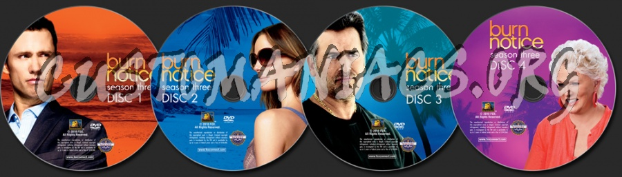 Burn Notice Season 3 dvd label