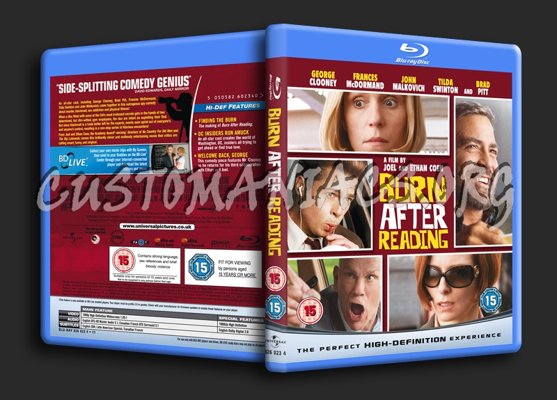 Burn After Reading blu-ray cover