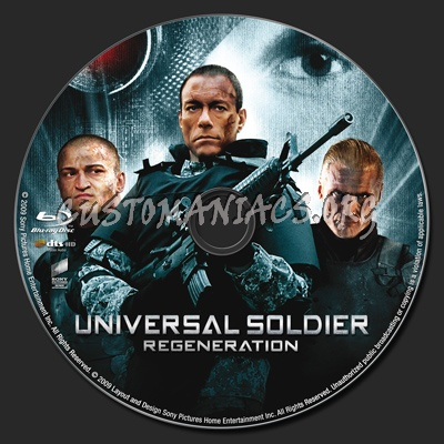 Universal Soldier: Regeneration blu-ray label