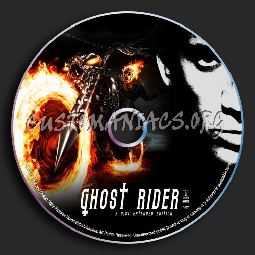 Ghost Rider 2 Disc Extended Edition dvd label