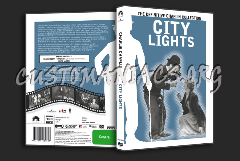 Charlie Chaplin: City Lights Dvd Cover