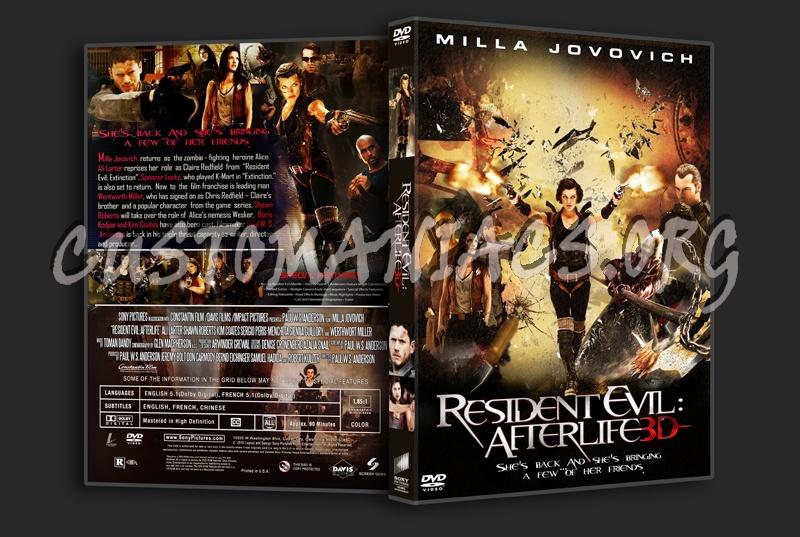 Resident Evil: Afterlife dvd cover