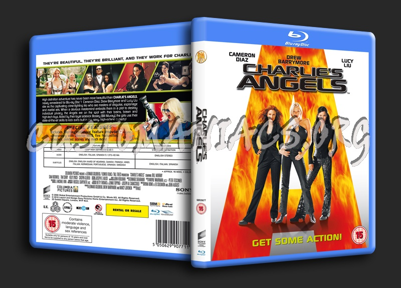 Charlie's Angels blu-ray cover