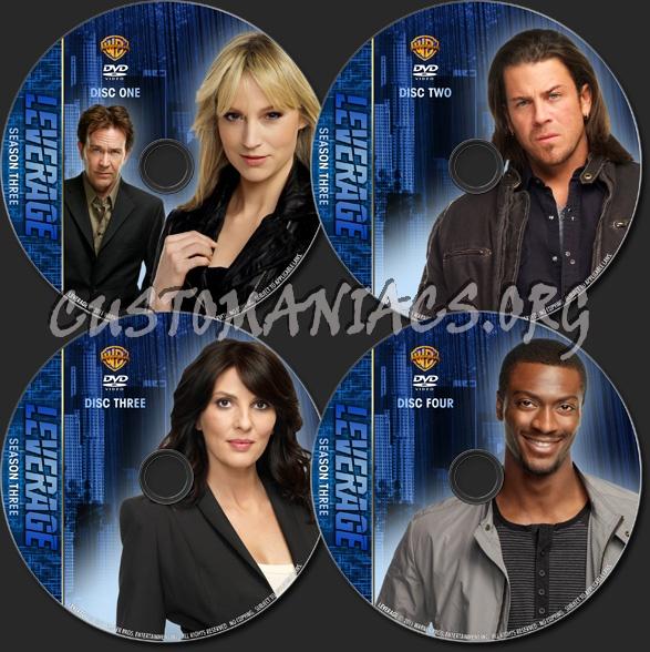 Leverage - TV Collection Season Three dvd label