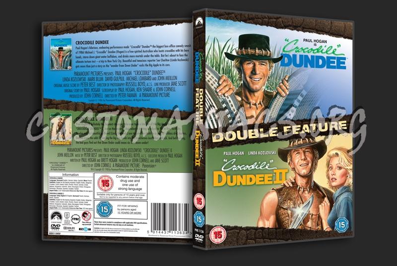 Crocodile Dundee / Crocodile Dundee 2 dvd cover